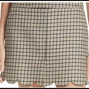 Red Valentino Plaid Scalloped Skirt *NWT*